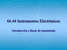 66.44 Instrumentos Electrónicos