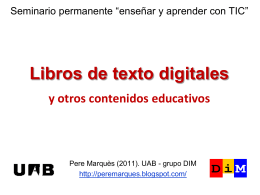 Libros de texto digitales