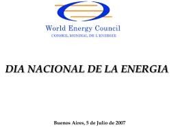 Diapositiva 1 - Comité Argentino Consejo Mundial de Energía