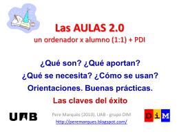 Las AULAS 2.0