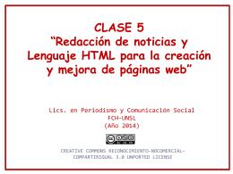 Clase 5- Lenguaje HTML