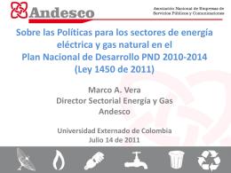 Políticas sector Eléctrico y Gas - Universidad Externado de Colombia