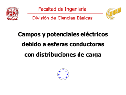 Campos y potenciales eléctricos debido a esferas conductoras con