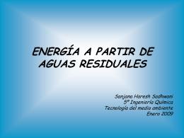 energía a partir de aguas residuales
