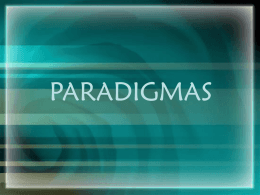 Paradigmas, Julio Cesar Lobo M, Jorge Gil Avelar, 2007-1