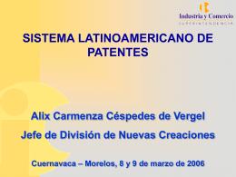 sistema latinoamericano de patentes