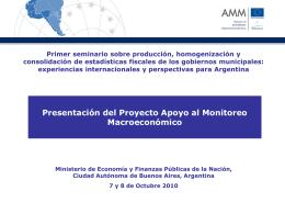 Presentación del Proyecto de Cooperación Técnica y Financiera.