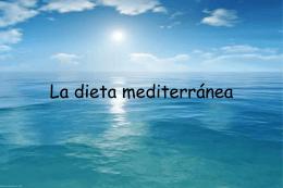 Dieta mediterránea - AMPA Colegio Público Alhambra