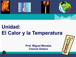 Concepto de Calor - ciencias físicas