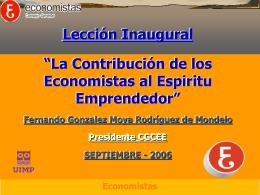 economista - Consejo General de Colegios de Economistas
