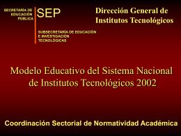 Presentación del Nuevo Modelo Educativo
