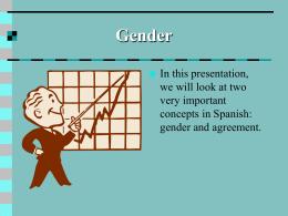 Gender & Number