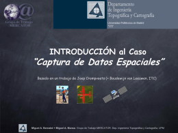 PowerPoint Adquisición de Datos Espaciales