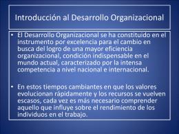 Qué es el Desarrollo Organizacional Definiciones