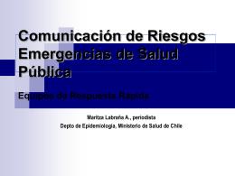 Comunicación de Riesgos Emergencias de Salud