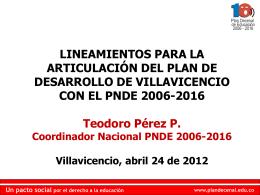 (inteligencia) social - Plan Nacional Decenal de Educación 2006-2016