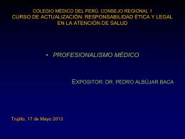 Profesionalismo Médico - CMP