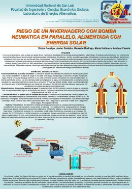 Poster-Riego de un Invernáculo con Bomba Neumática en