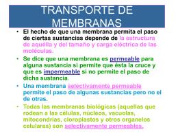 TRANSPORTE DE MEMBRANAS