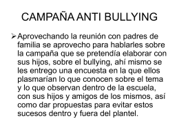 CAMPAÑA ANTI BULLYING
