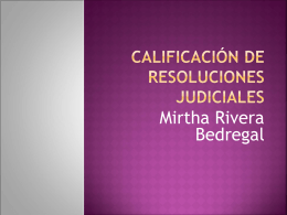 calificación de documentos judiciales