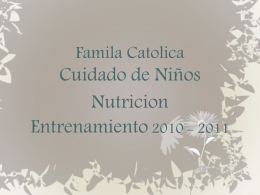 Accion del Patrocinador - Catholic Family & Child Services