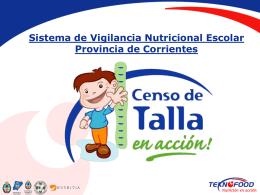 Sistema de Vigilancia Nutricional Escolar Provincia de Corrientes