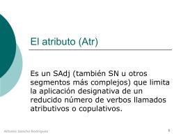El atributo (Atr) - IES Fuente de la Peña