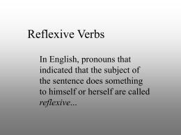 reflexive verbs - Serrano`s Spanish Spot