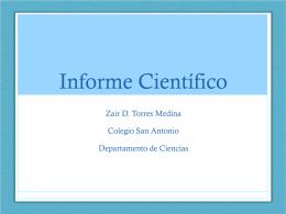 Informe Científico