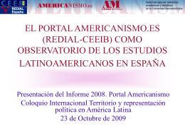 El Portal Americanismo.es como observatorio de los estudios