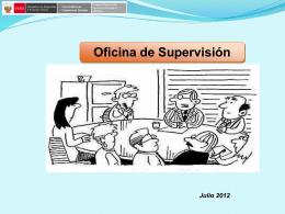 Informe de Supervisión.