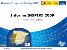 Informe Inspire 2009