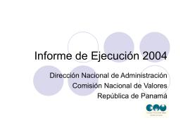 Informe de Ejecución 2003