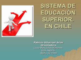 SISTEMA DE EDUCACIÓN SUPERIOR.