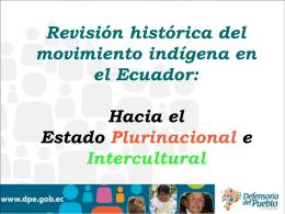 Revisión histórica del movimiento indígena en el Ecuador