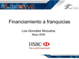 Financiamiento a franquicias