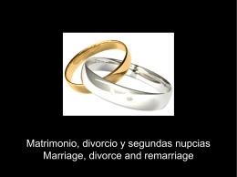 Matrimonio, divorcio y segundas numpcias PPT
