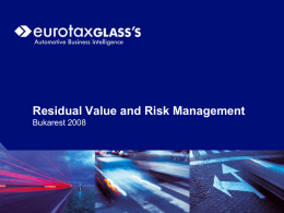 Residual value and risk management in the leasing sector