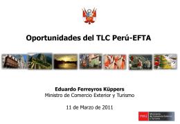 Oportunidades del TLC Peru-EFTA - Ministerio de Comercio Exterior
