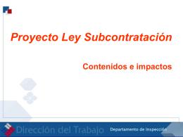 subcontrato - Dirección del Trabajo