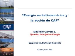 CAF_ El sector energético y la acción de CAF_M Garrón