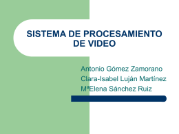 SISTEMA DE PROCESAMIENTO DE VIDEO