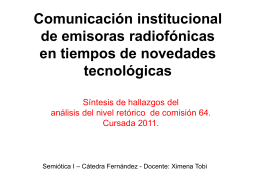 esta es la presentación - Semiótica I – Fernández