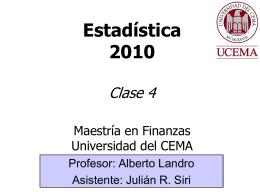 Clase 4 - Universidad del CEMA