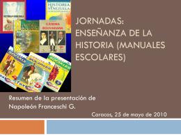 Jornadas: Enseñanza de la Historia (Manuales Escolares)