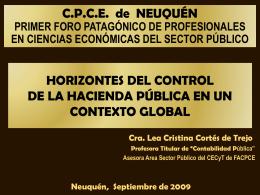 Horizontes del Control de la Hacienda Pública en un contexto global