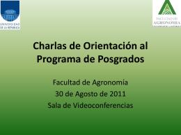 Charlas de Orientación al Programa de Posgrados