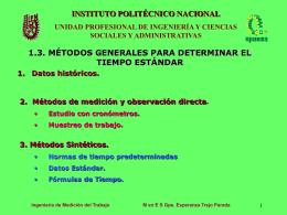 MÉTODOS GENERALES PARA DETERMINAR EL TIEMPO