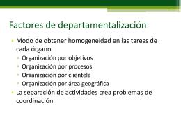 Factores de departamentalización
